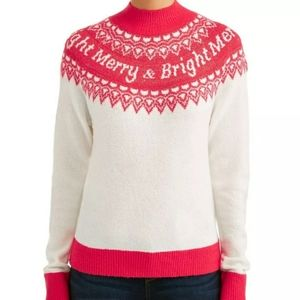 Holiday Time Merry & Bright Long Sleeve Sweater